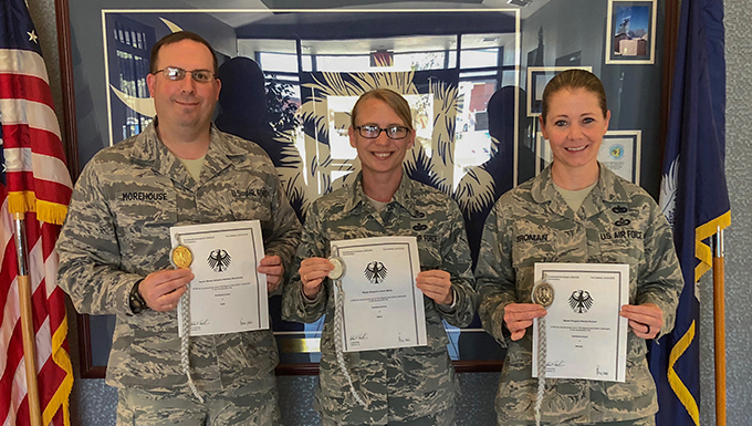 SCANG members hit their mark and earn German Marksmanship Award