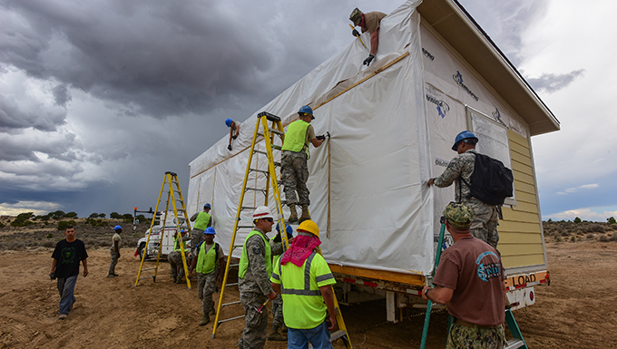 Swamp Fox Engineers build homes for Navajo veterans during training mission to New Mexico