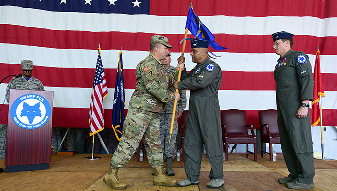 SCANG holds change of command ceremony