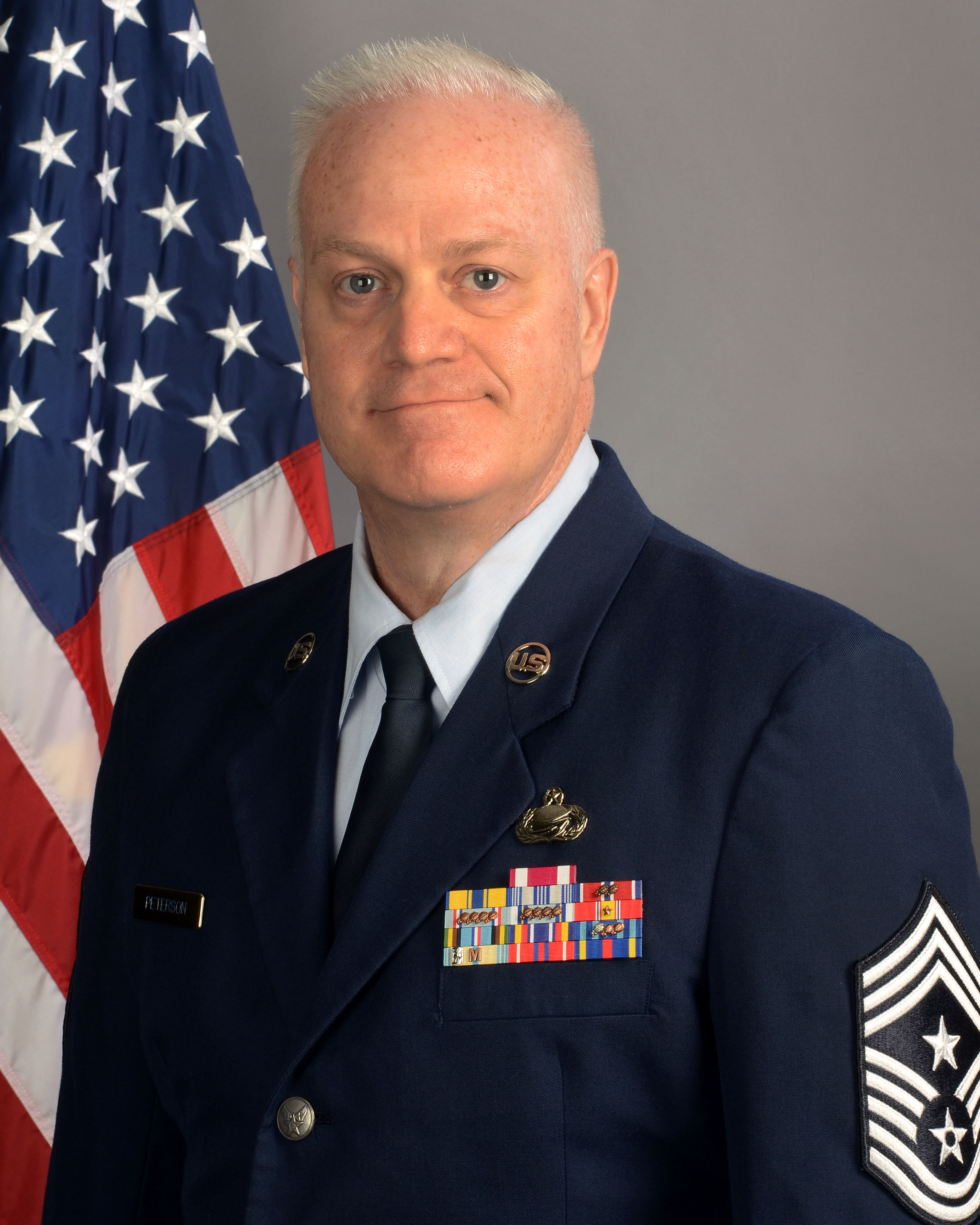 Chief Master Sgt. Dayne Peterson, 169th Fighter Wing command chief