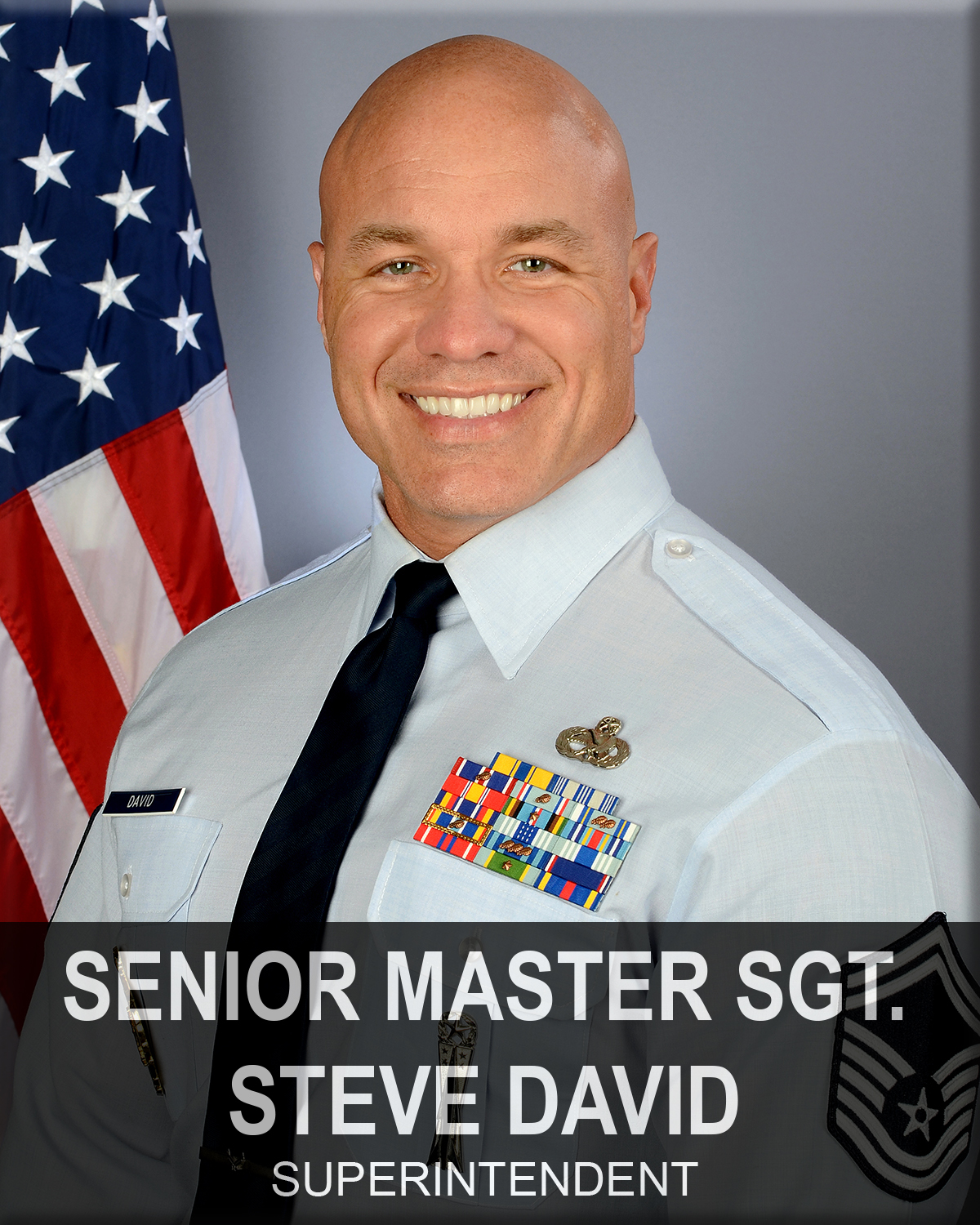 Senior Master Sergeant Steve David, 169th Fighter Wing recruiting and retention superintendent