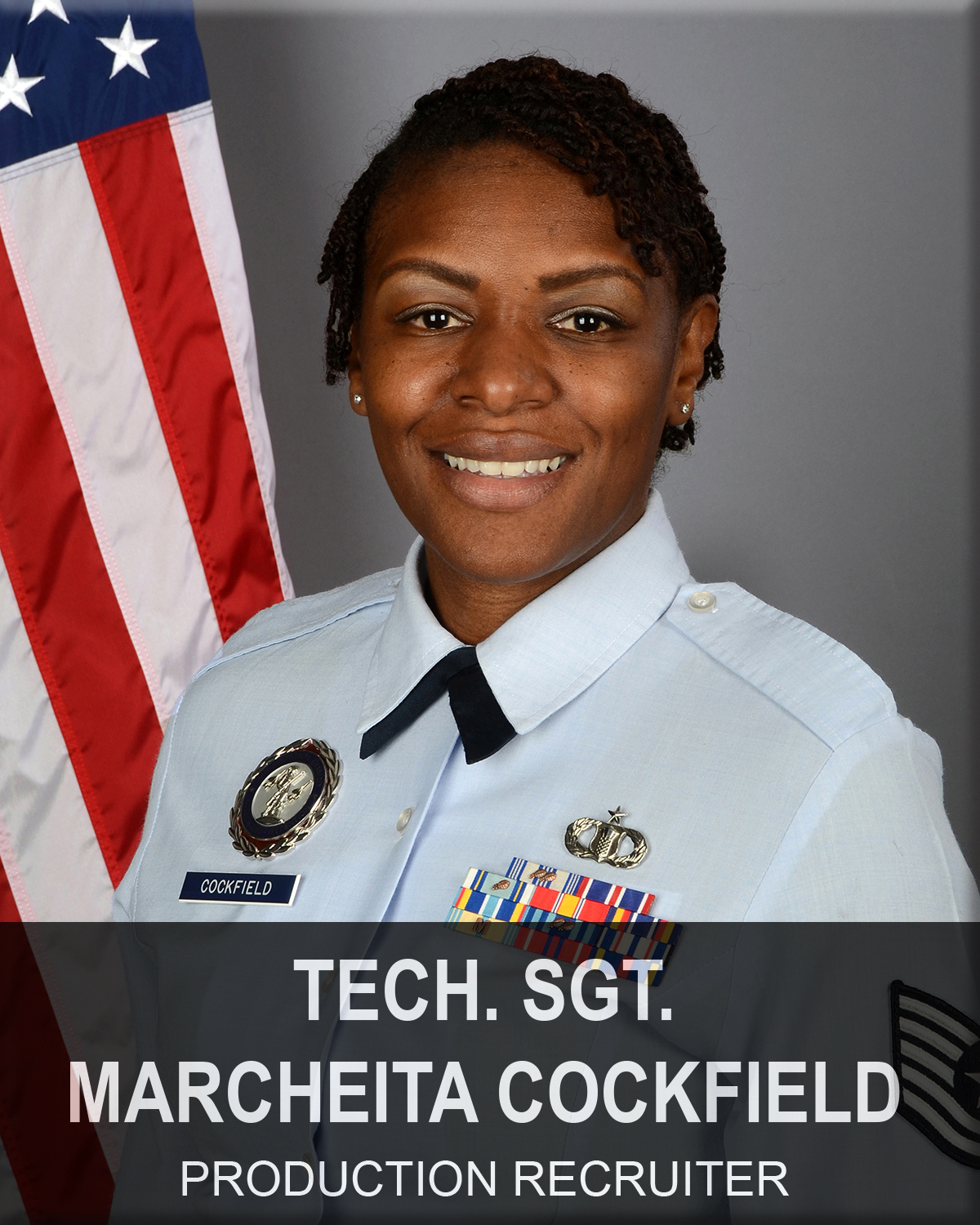 Technical Sergeant Marcheita Cockfield, South Carolina Air National Guard recruiter